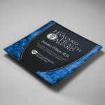 Craquelure Glass Lasered Tray for Lying Flat Achievement Awards